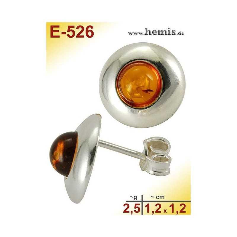 E-526 Bernstein-Ohrstecker, Bernsteinschmuck, Silber-925