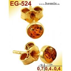 EG-524 Bernstein-Ohrstecker, Bernsteinschmuck, Silber-925, vergo
