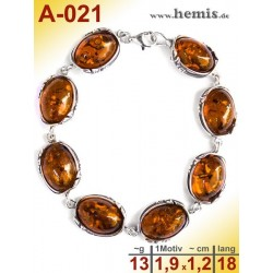 A-021 Amber Bracelet, Amber jewelry, silver-925