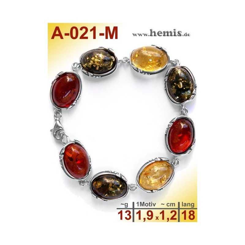 A-021-M Bernstein-Armband, Bernsteinschmuck, Silber-925