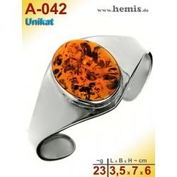 A-042 Bernstein-Armreif, Bernsteinschmuck, Silber-925