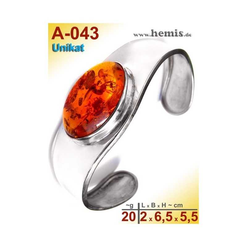 A-043 Bracelet, Amber jewellery, Sterling silver, 925