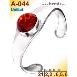 A-044 Bernstein-Armreif, Bernsteinschmuck, Silber-925