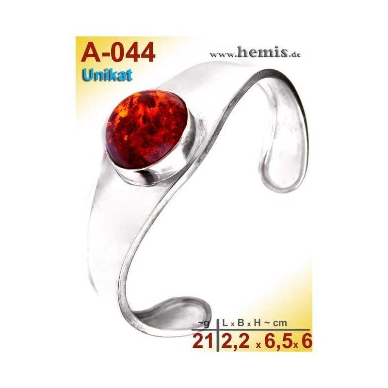 A-044 Bracelet, Amber jewellery, Sterling silver, 925