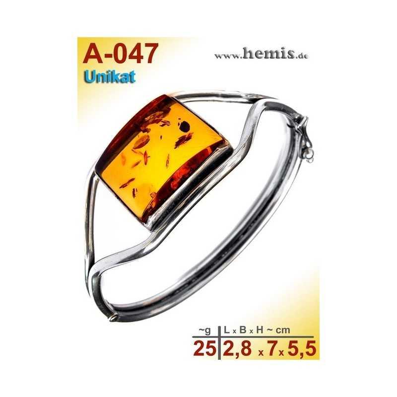 A-047 Bracelet, Amber jewellery, Sterling silver, 925