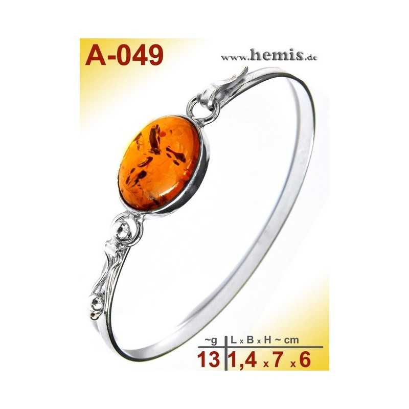 A-049 Bracelet, Amber jewellery, Sterling silver, 925