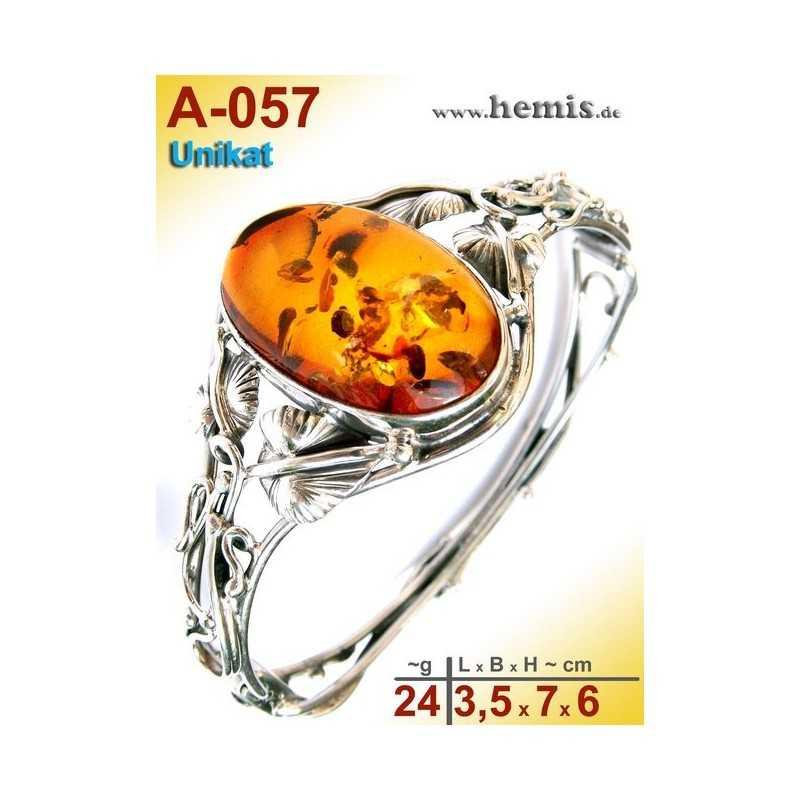 A-057 Bracelet, Amber jewellery, Sterling silver, 925