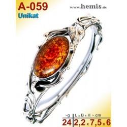 A-059 Bracelet, Amber jewellery, Sterling silver, 925