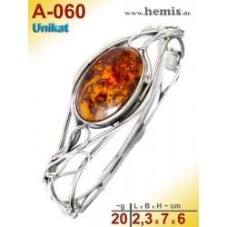 A-060 Bernstein-Armreif, Bernsteinschmuck, Silber-925