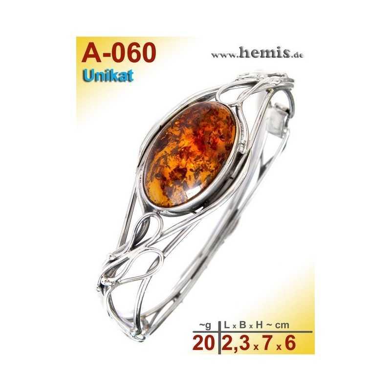 A-060 Bracelet, Amber jewellery, Sterling silver, 925