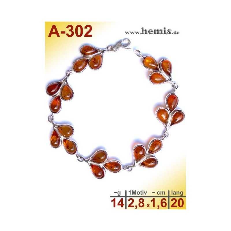 A-302 Amber Bracelet, Amber jewelry, silver-925