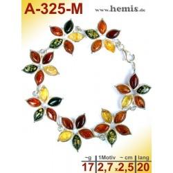 A-325-M Bernstein-Armband, Bernsteinschmuck, Silber-925