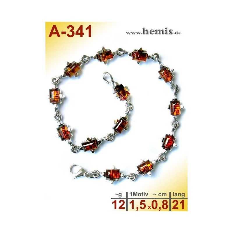 A-341  Bernstein-Armband, Bernsteinschmuck, Silber-925