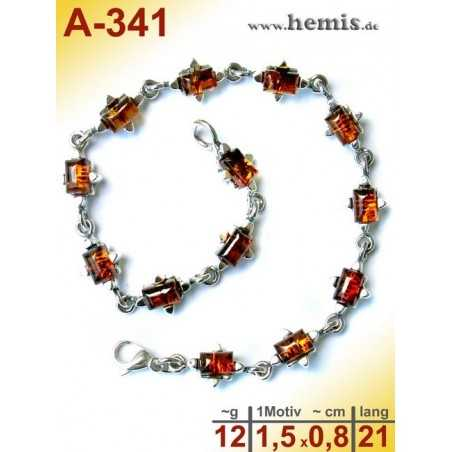 A-341  Amber Bracelet, Amber jewelry, silver-925