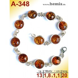 A-348 Amber Bracelet, Amber jewelry, silver-925