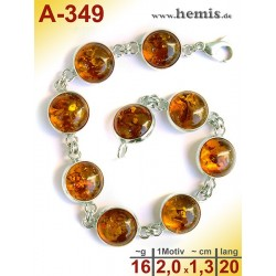 A-349 Amber Bracelet, Amber jewelry, silver-925