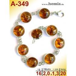 A-349 Bernstein-Armband, Bernsteinschmuck, Silber-925