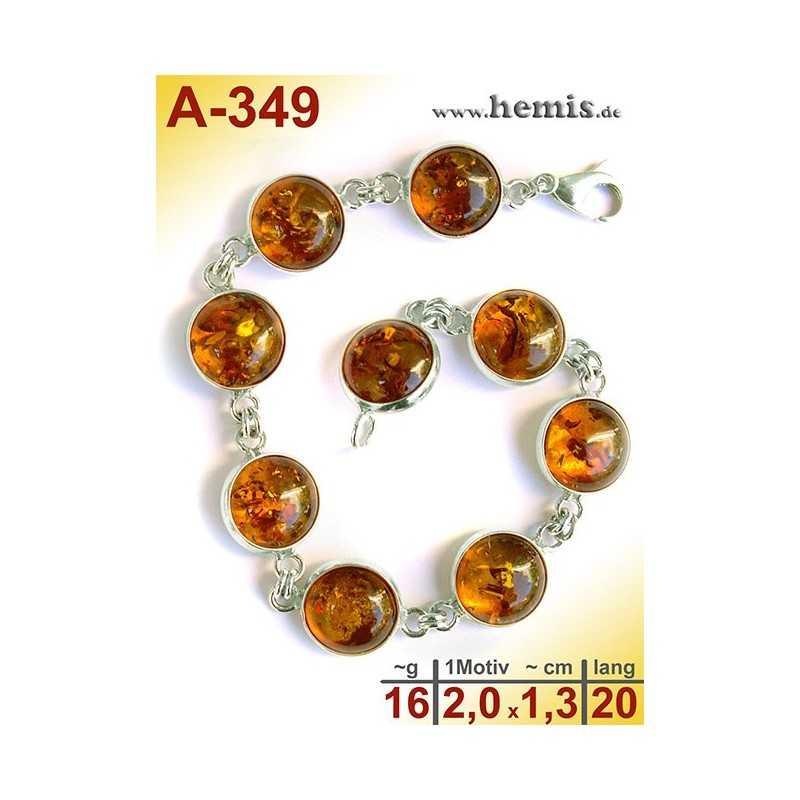 A-349 Amber Bracelet, Amber jewelry, silver-925