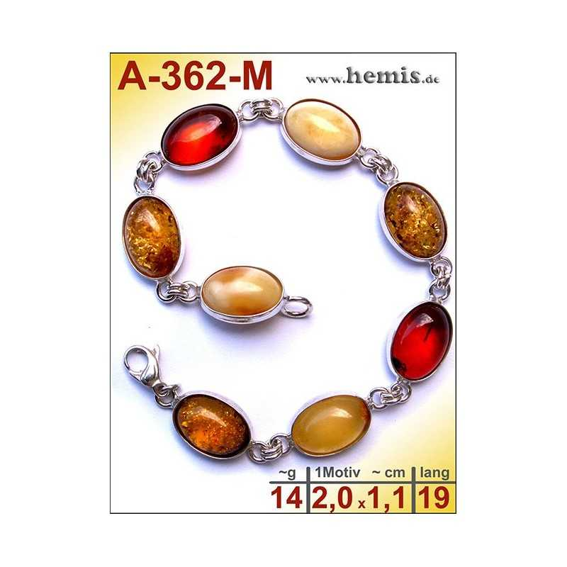 A-362-M Amber Bracelet, Amber jewelry, silver-925