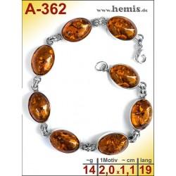 A-362 Bernstein-Armband, Bernsteinschmuck, Silber-925