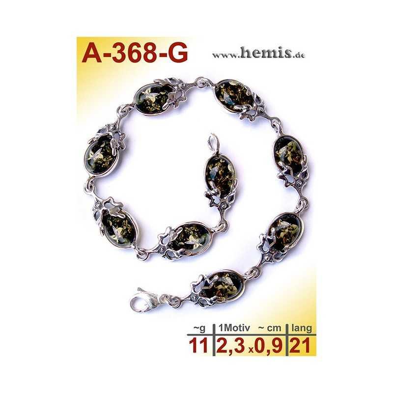 A-368-G Bernstein-Armband, Bernsteinschmuck, Silber-925 Sterlin