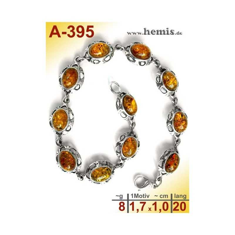 A-395 Amber Bracelet, Amber jewelry, silver-925