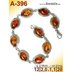 A-396 Bernstein-Armband, Bernsteinschmuck, Silber-925