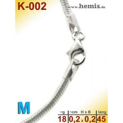 K-002 Sterling silver snake-chain-925, M,