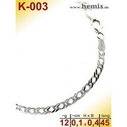 K-003 Chain, sterling silver -925, M, double-rombo