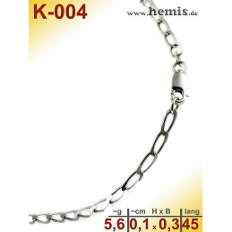 K-004 Chain, sterling silver -925, S, Figaro