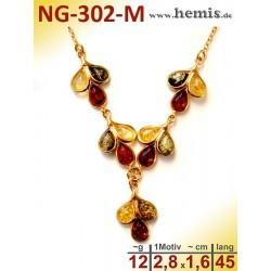 NG-302-M amber necklace,...