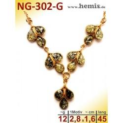 NG-302-G amber necklace,...