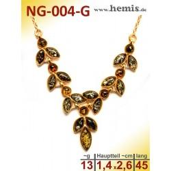 NG-004-G amber necklace,...