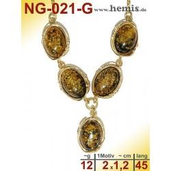 NG-021-G amber necklace,...