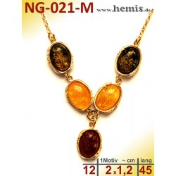 NG-021-M amber necklace,...