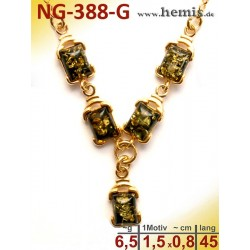 NG-338-G amber necklace,...