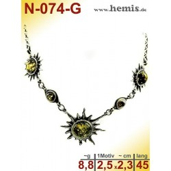 N-074-G Necklace Sterling...