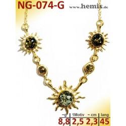 NG-074-G amber necklace,...