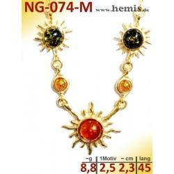 NG-074-M amber necklace,...