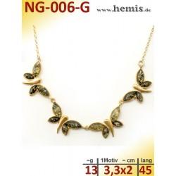 NG-006-G amber necklace,...