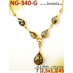 NG-340 necklace, amber...