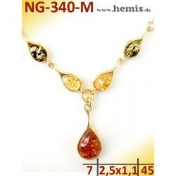 NG-340-M necklace, amber...