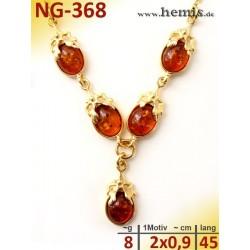 NG-368 necklace, amber...