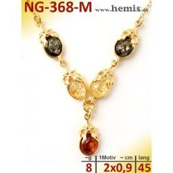 NG-368-M necklace, amber...