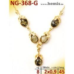 NG-368-G necklace, amber...