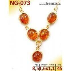 NG-073 necklace, amber...