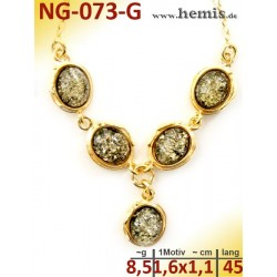NG-073-G necklace, amber...