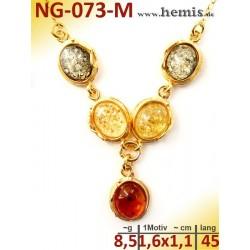 NG-073-M necklace, amber...