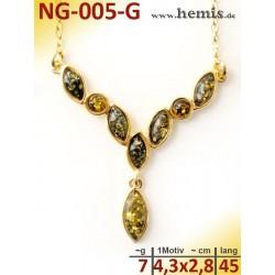 NG-005-G amber necklace,...