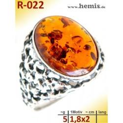 R-022 Amber Ring,...